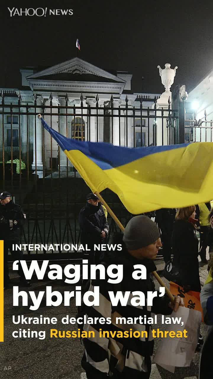 Ukraine introduces martial law citing possible Russian invasion