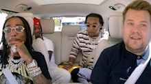 The Migos gave their own spin on some pop song favourites on the newest 'Carpool Karaoke'