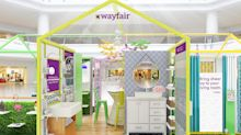 Wayfair will launch first-ever pop-up stores in Natick, New Jersey