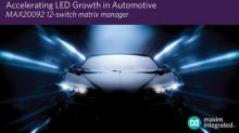 Maxim's LED Matrix Manager Empowers High-Density Automotive Matrix and Pixel Lighting