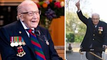 Captain Sir Tom Moore dies aged 100 after testing positive for COVID