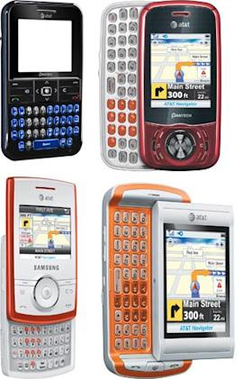 AT&T goes wild with texting, announces four QWERTY phones
