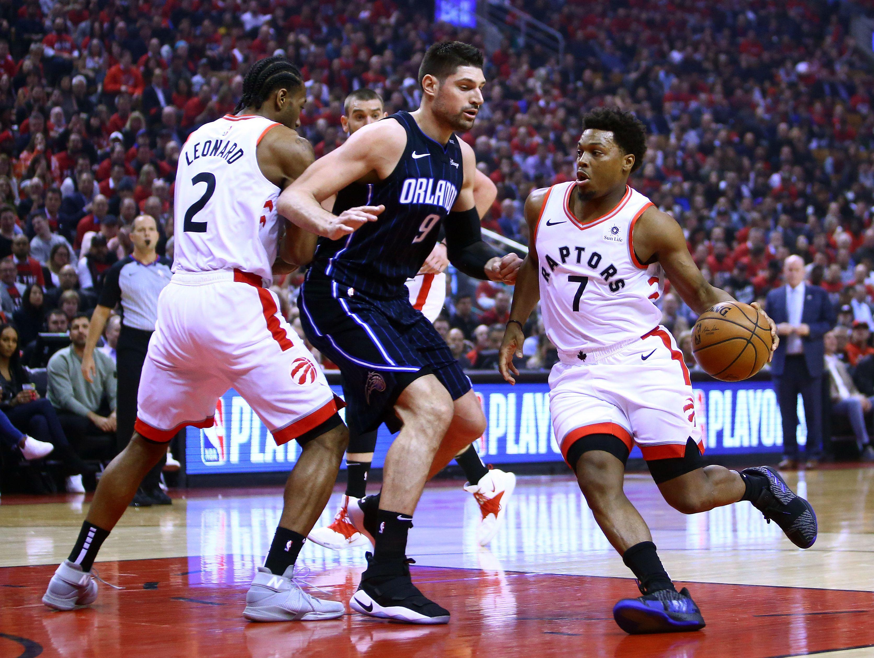 b8ee8fe61 Kyle Lowry bounces back as Raptors avenge Game 1 upset to Magic in dominant  fashion