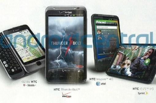 HTC ThunderBolt for Verizon and Inspire 4G for AT&T break cover courtesy of Rolling Stone ad