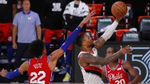 Lillard drops 51 as Trail Blazers top 76ers; Embiid injured