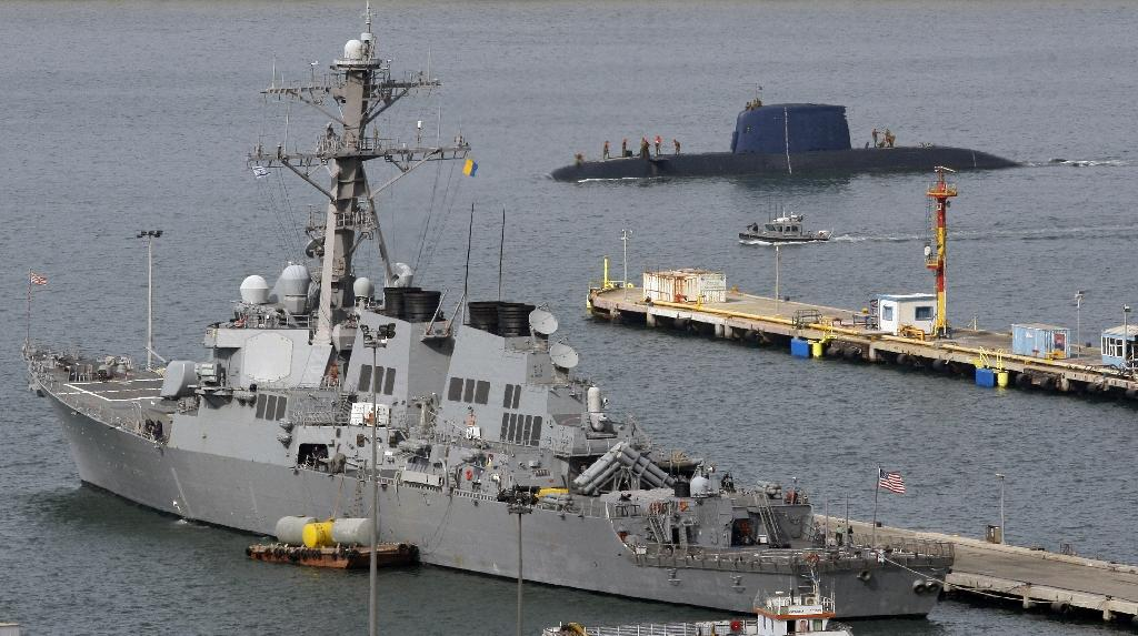 The USS Decatur at the Israeli port of Haifa in 2009