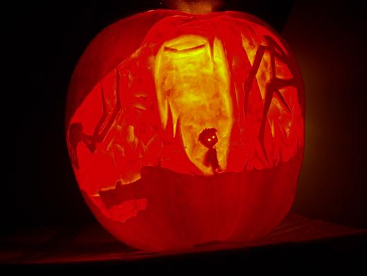 Limbo pumpkin is as eerie and beautiful as the game itself