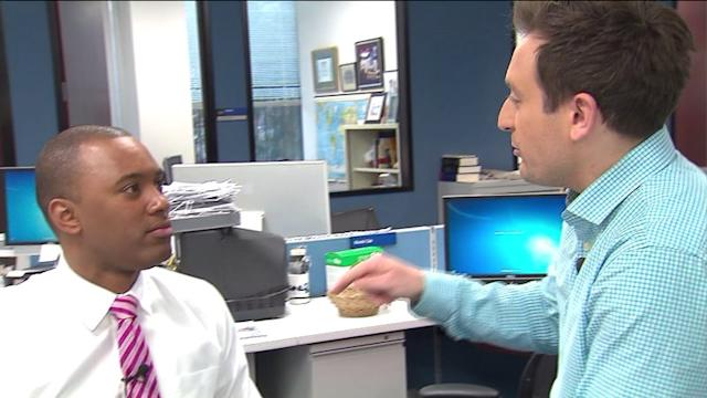 Reporter challenges weatherman to bet on the weather