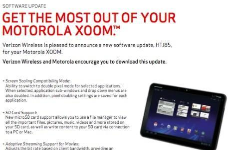 Verizon announces Android 3.2 update for Motorola Xoom 3G, available today?