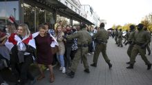 Rights group: More than 300 detained at Minsk women's march