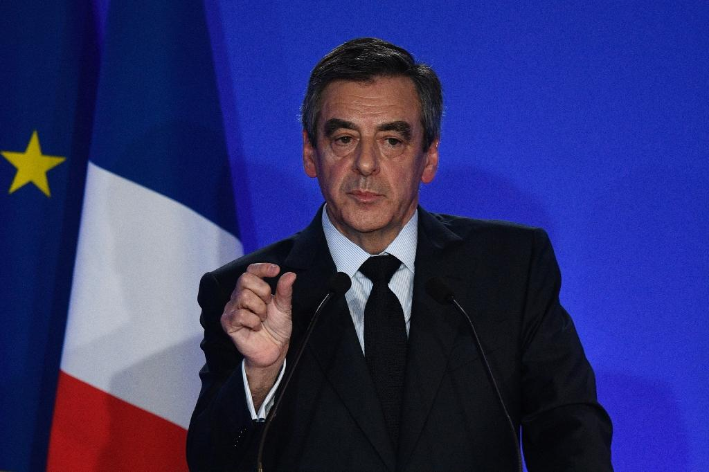 Les Republicains' (LR) presidential candidate Francois Fillon's bid has been floundering over a parliamentary jobs scandal involving his family (AFP Photo/Martin BUREAU)