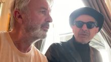 'Jurassic Park' stars Jeff Goldblum and Sam Neill reunite for jazz duet