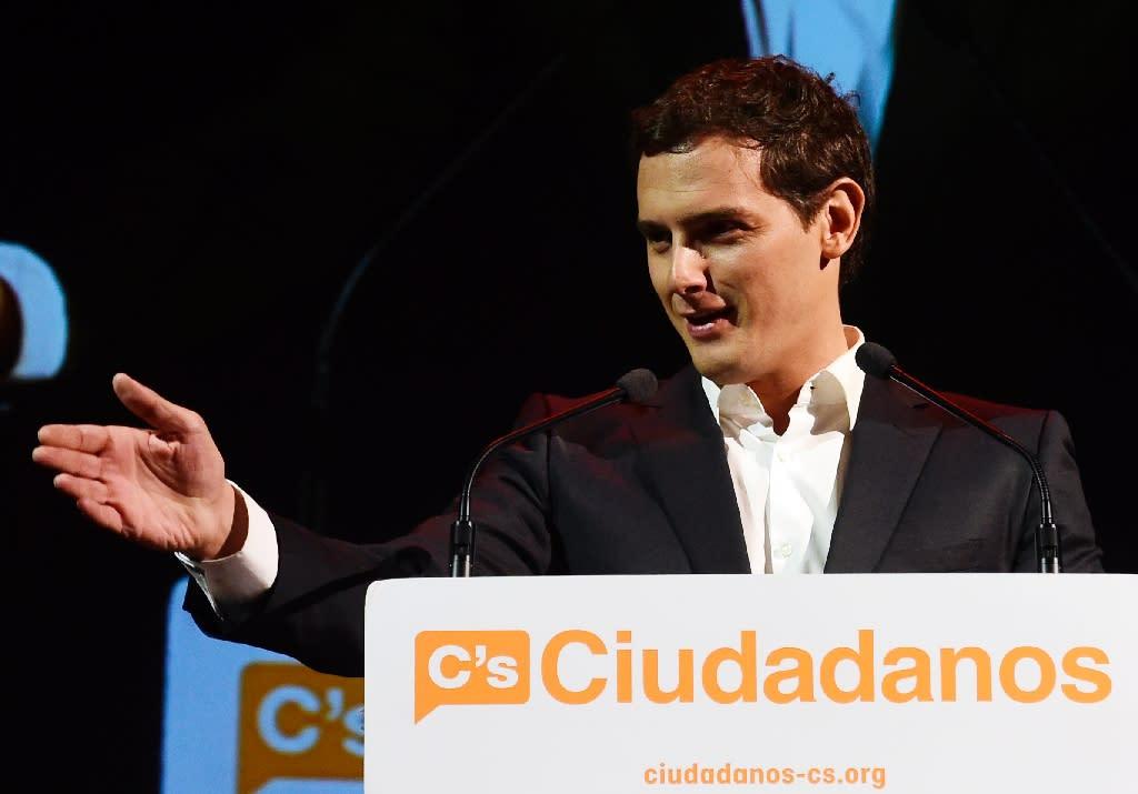Albert Rivera heads Spain's new centre-right Ciudadanos party (AFP Photo/Javier Soriano)