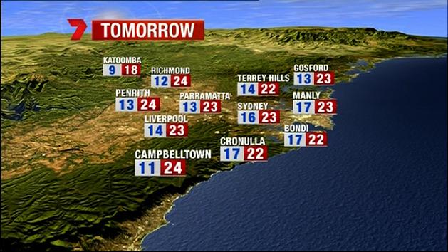 NSW weather - April 8