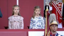 Así hemos visto crecer a Leonor y Sofía en el Día de la Fiesta Nacional