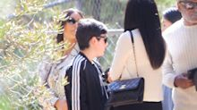 Oh Hi, Kim Kardashian and North West Wore Matching Snakeskin Outfits to Kanye Church