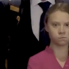 Greta Thunberg gives Trump a powerful glare as he walks past her at the UN Climate Summit