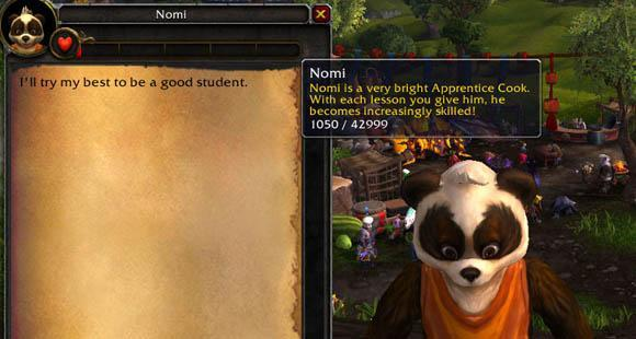 Mists of Pandaria Beta: Nomi, the cook's apprentice