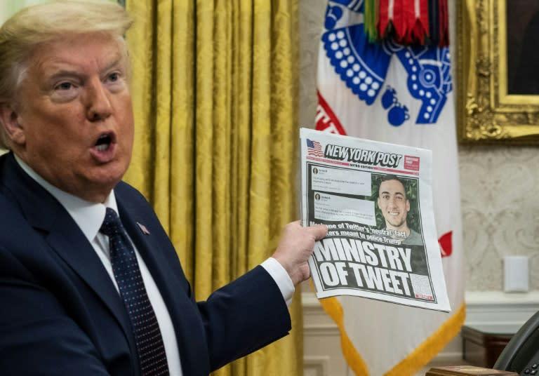 President Donald Trump has accused social media of