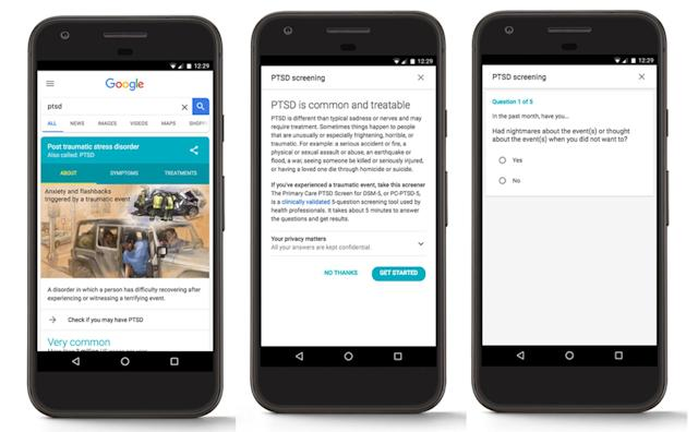 Google search quiz can help diagnose PTSD