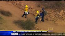 Hiker assisted off Cowles Mountain by rescue workers
