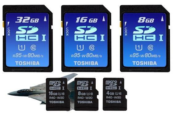 Toshiba fulfills your need for speed with UHS-I SDHC and microSDHC cards