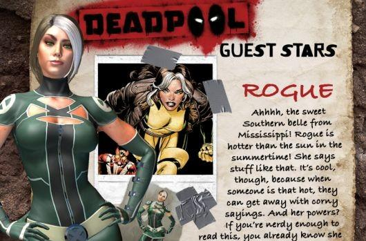 Rogue joins the gallery of guest stars in the Deadpool game