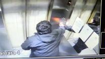 Man injured in out-of-control elevator crash -- caught on tape