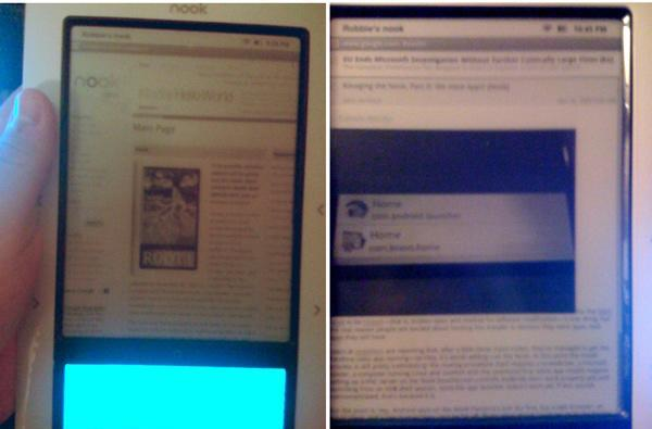 Nook hacked with Web browser, Facebook, and Twitter apps for starters