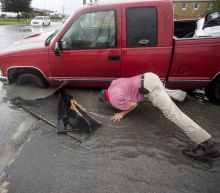 Flash flood risk persists in Texas as Imelda moves inland