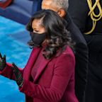 Michelle Obama wows in plum suit at inauguration: 'Our forever first lady is fly'