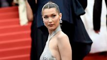 Bella Hadid Wore a Silver Metallic Dress to Cannes