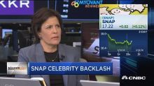 Celebrities attacking Snap is not a good look for the com...