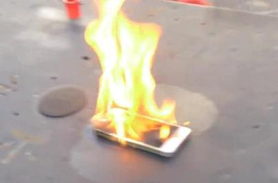Nope, the iPhone 5s isn't fireproof
