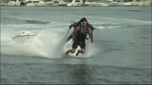 Calif. man attempts water jet pack record