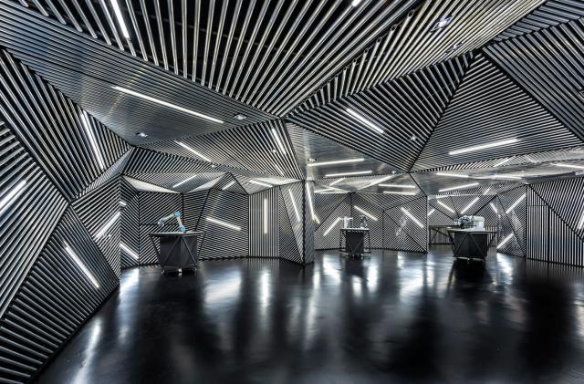 Decor as dystopia at a Singapore robotics training center