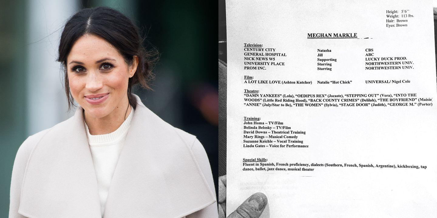 Meghan Markle's Old Acting Résumé & Headshot Is Proof That Her Style