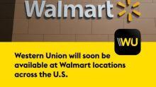 Walmart und Western Union treffen Vereinbarung zum Angebot von Western Union Money Transfers bei Walmart