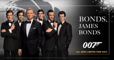 Madame Tussauds Orlando to Unveil Figures of All Six James Bonds on National James Bond Day