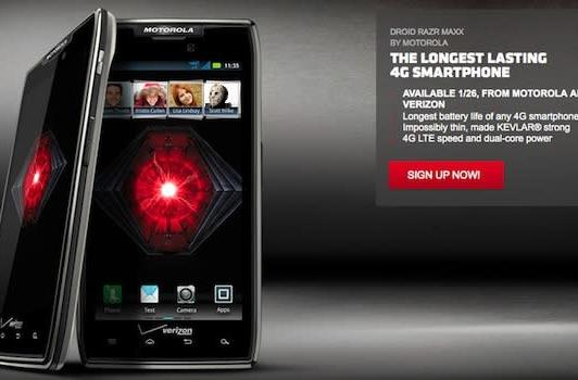 Motorola website points to January 26th launch for Droid RAZR Maxx