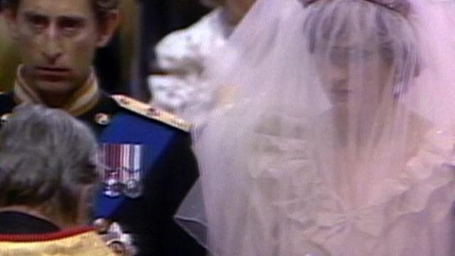 Charles and Diana exchange vows