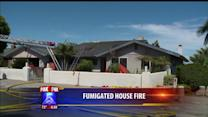 Tented House Catches Fire