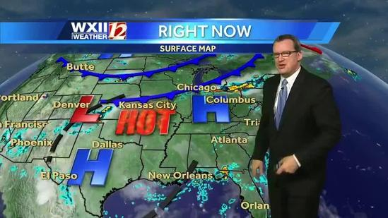 A hot Saturday for the Triad