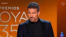 La sobriedad de Antonio Banderas aporta elegancia a los Goya de la pandemia