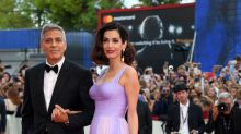 Amal Clooney gives us Old Hollywood glam in Versace