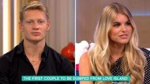 Evicted Love Island couple sit on separate sofas during bizarre This Morning interview
