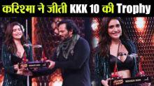 Khatron Ke Khiladi 10: Karishma Tanna wins trophy of Rohit Shetty's show
