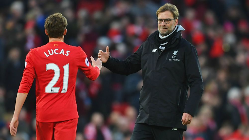 Lucas hails influence of Liverpool's 'special' Klopp