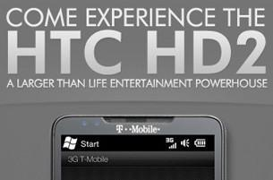 T-Mobile invites us to 'come experience the HTC HD2' on March 16; release on the 24th? (update: or 23rd!)