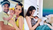 Smriti Khanna Caresses Her Little Angel, Anayka And Pooch, Lucas To Sleep, Aces Her Mommy Duties